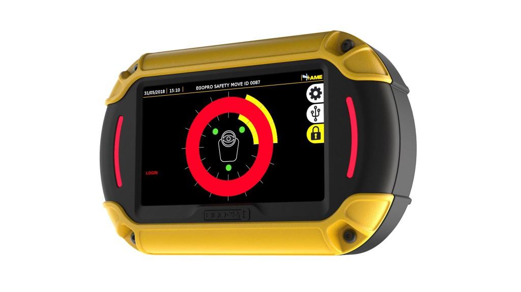 Display sistema di Anticollisione tra carrello elevatore e operatore - Sistema di Safety - EGOpro Safe MOVE - Proximity Warning System